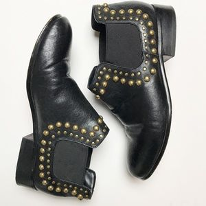 Betsey Johnson Sadie Black Leather Boots Booties